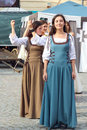 Girls dancing at sighisoara medieval festival july romania Stock Photography