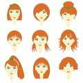 Girls with different hairstyles Royalty Free Stock Photos