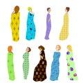 Girls Draped patterned fabric