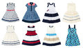 Girls dresses isolated on white background. Royalty Free Stock Photo
