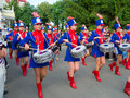 Girls drummers performing Stock Images