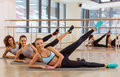 Girls in fitness class Royalty Free Stock Photo