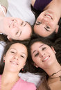 Girls on the floor Royalty Free Stock Photos