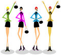 Girls group fashion woman Stock Photography