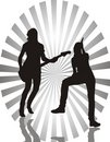 Girls with guitars Royalty Free Stock Photos