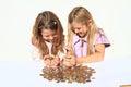 Girls Holding Money In Hands