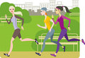 Girls jogging Royalty Free Stock Photo