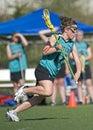 Girls Lacrosse attacker Stock Images