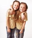 Girls little two Стоковая Фотография RF