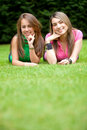 Girls outdoors Royalty Free Stock Images