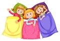 Girls in pajamas at slumber party Royalty Free Stock Photo