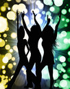 Girls Party Silhouette Stock Photo