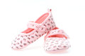 Girls pink baby shoes Royalty Free Stock Images