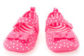 Girls pink baby shoes Royalty Free Stock Photo