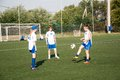 The girls play soccer Royalty Free Stock Photo
