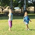Girls playing frisbee Royalty Free Stock Photo