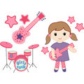 Girls rock vector pack Royalty Free Stock Photo