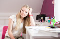Girls room teenage girl in the her own at home Stock Photo