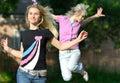 Girls run Royalty Free Stock Photography