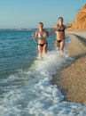 Girls running Stock Photo
