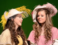 Girls in a School Play Stock Photography