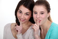 Girls with a secret they won t share Royalty Free Stock Photography