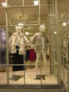 Girls section and dummy display mannequins of winter clothing Stock Image
