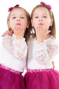 Girls sends kiss Royalty Free Stock Photo