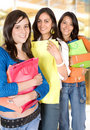 Girls shopping out Royalty Free Stock Photos