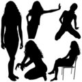 Girls Silhouettes 06 Royalty Free Stock Images