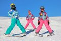 Girls on the snow Royalty Free Stock Photo
