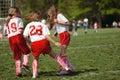 Girls on Soccer Field 34 Royalty Free Stock Photo