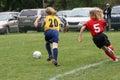 Girls on Soccer Field 42 Royalty Free Stock Photo