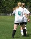 Girls Soccer Game #4 Royalty Free Stock Photo