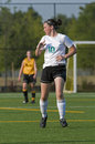 Girls soccer player Royalty Free Stock Photo