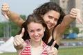 Girls teen two Стоковая Фотография