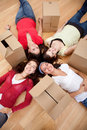 Girls tired of packing Stock Image