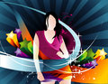Girls vector composition Royalty Free Stock Photo