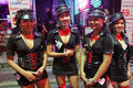 Girls on Walking Street in Pattaya Stock Images