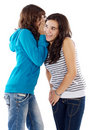 Girls whispering a secret Royalty Free Stock Photos