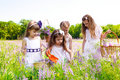 Girls in white dresses Royalty Free Stock Photography