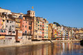 Girona in sunny day catalonia picturesque view of Royalty Free Stock Photos