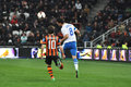 Giuliano kicked the ball by head photo was taken during match between shakhtar donetsk city and dnipro dnepropetrovsk city at Royalty Free Stock Images