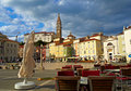 Giuseppe Tartini square, Piran Royalty Free Stock Images