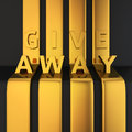 Give away headline gold letters on golden lines Royalty Free Stock Photography