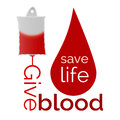Give blood bag and drop of Stock Photos