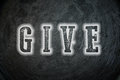 Give concept text background sign Royalty Free Stock Photos