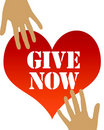 Give from the heart Stock Photography