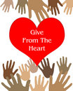 Give from the heart Royalty Free Stock Photo