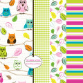 Give A Hoot. File includes owl, gingham, leaf and stripe repeating patterns.